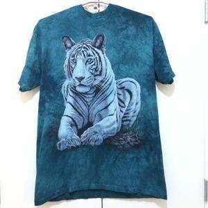 The Mountain T-Shirt Mens Size XL White Tiger